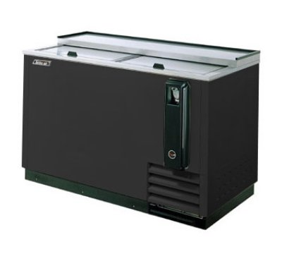 "Turbo Air TBC-65SB 64.38"" Forced Air 528-Capacity Bottle Cooler - Stainless Interior, 115v"