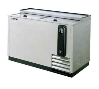 "Turbo Air TBC-65SD 65"" Forced Air 528-Capacity Bottle Cooler - Stainless Interior, 115v"