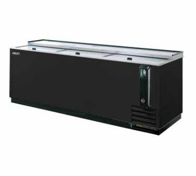Turbo Air TBC-95SB Bottle Cooler w/ Stainless Countertop, 95-in W, Black