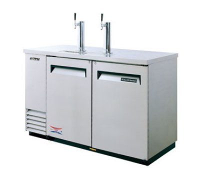Turbo Air TBD-2SD 59-in All Stainless Beer Dispenser w/ 2-Half Barrel Capacity