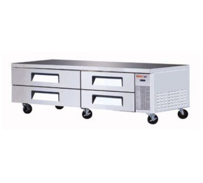 "Turbo Air TCBE-82SDR 83.62 "" Chef Base w/ (4) Drawers - 115v"