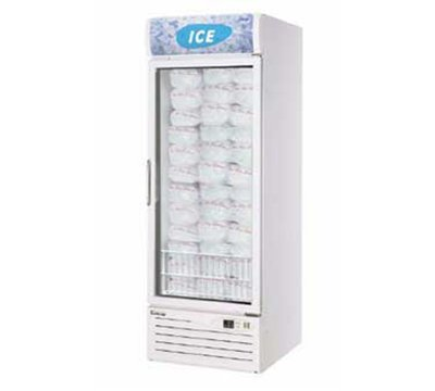 Turbo Air TGIM-23 Ice Merchandiser w/ 1-Section, Bottom Mount & Wire Shelves, 21.1-cu ft