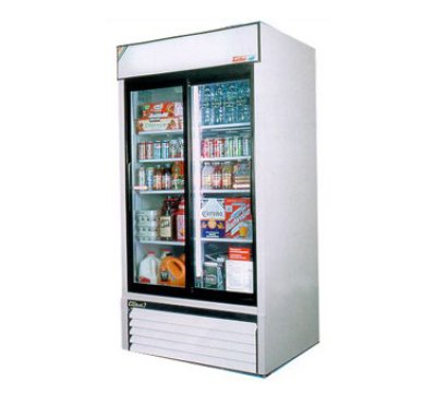 "Turbo Air TGM-35R 41.37"" Two-Section Refrigerated Display w/ Swing Door, Bottom Mount Compressor, 115v"