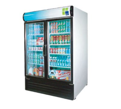 Turbo Air TGM-50RS Refrigerated Merchandiser w/ Swing Glass Doors, 50-cu ft