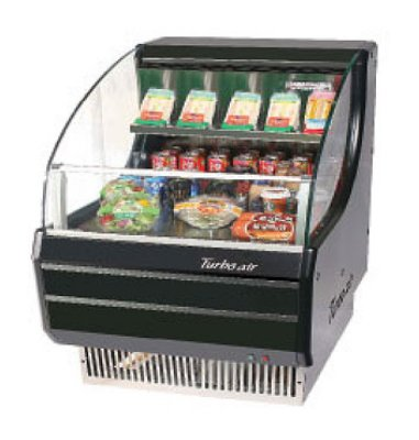 Turbo Air TOM-30SB 28-in Horizontal Open Display Merchandiser, Slim Line, Black