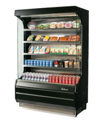 Turbo Air TOM-40B 39-in Vertical Open Display Merchandiser w/ 4-Shelves, Black