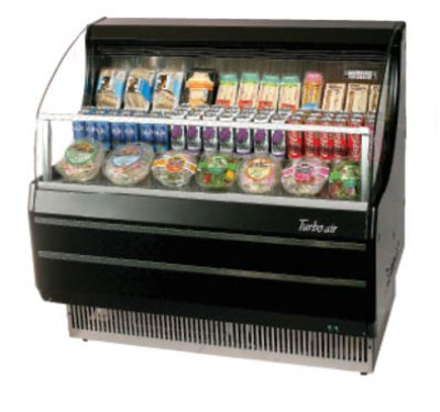 Turbo Air TOM-40LB 39-in Horizontal Open Display Merchandiser, Low Profile, Black