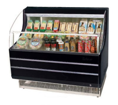 Turbo Air TOM-40SB 39-in Horizontal Open Display Merchandiser w/ 3-Shelves, Black