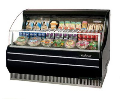 Turbo Air TOM-50SB 51-in Horizontal Open Display Merchandiser, Slim Line, Black