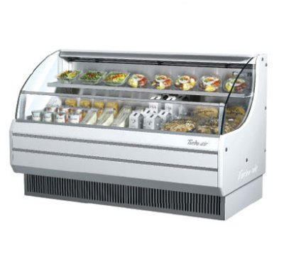 Turbo Air TOM-75L 76-in Horizontal Open Display Merchandiser, Low Profile, White