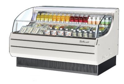 Turbo Air TOM-75S 76-in Horizontal Open Display Merchandiser, Slim Line, White
