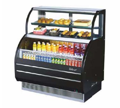 Turbo Air TOM-W-60S Open Display Merchandiser w/ Refrigerated Top Shelf Case, 7.0-cu ft Top, 10.7-cu ft Bottom