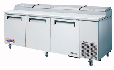 "Turbo Air TPR-93SD 93.37"" Pizza Prep Table w/ Refrigerated B"
