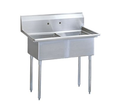 Turbo Air TSA-2-N Prep Sink, (2) 18 x18 x11-in Deep, 11-in Splash