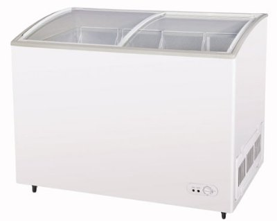 Turbo Air TSD-47CF Ice Cream Merchandising Case, Glass Slide Lids, 10.5-cu ft, White