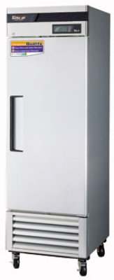 Turbo Air TSR-23SD Reach In Refrigerator w/ 1-Solid Door, All Stainless, 23-cu ft