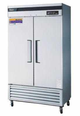 "Turbo Air TSR-35SD 39.5"" Two Section Reach-In Refrigerator, (2) Solid Door, 115v"