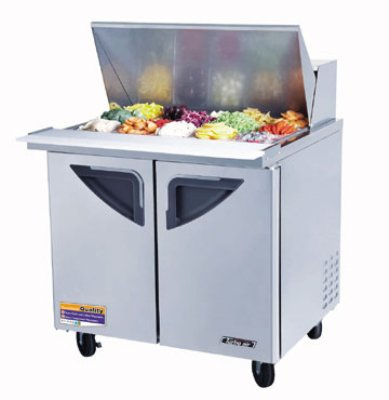 "Turbo Air TST-36SD-15 36.37"" Sandwich/Salad Prep Table w/ Refrigerated Base, 115v"