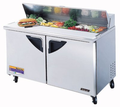 Turbo Air TST-60SD Sandwich / Salad Unit w/ 2-Door, For 16-Pan, Stainless, 16-cu ft
