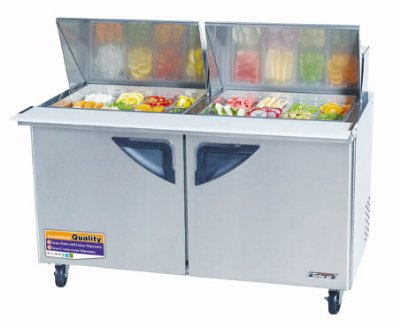 Turbo Air TST-60SD-24 Sandwich / Salad Unit w/ 2-Door, For 24-Pan, Stainless, 18.6-cuft