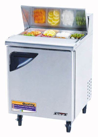 "Turbo Air TST-28SD 27.5"" Sandwich/Salad Prep Table w/ Refrigerated Base, 115v"
