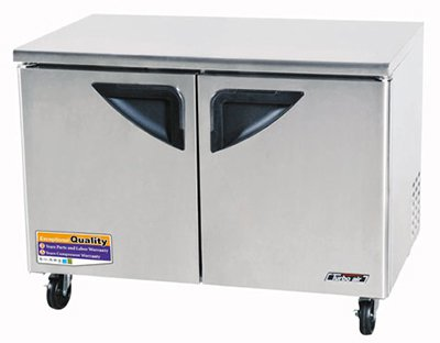 Turbo Air TUR-48SD 12-cu ft Undercounter Refrigerator w/ (2) Sections & (2) Doors, 115v
