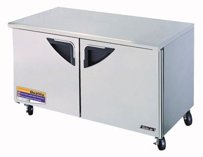 Turbo Air TUF-60SD Undercounter Freezer w/ 2-Solid Doors, 16-cu ft, Stainless