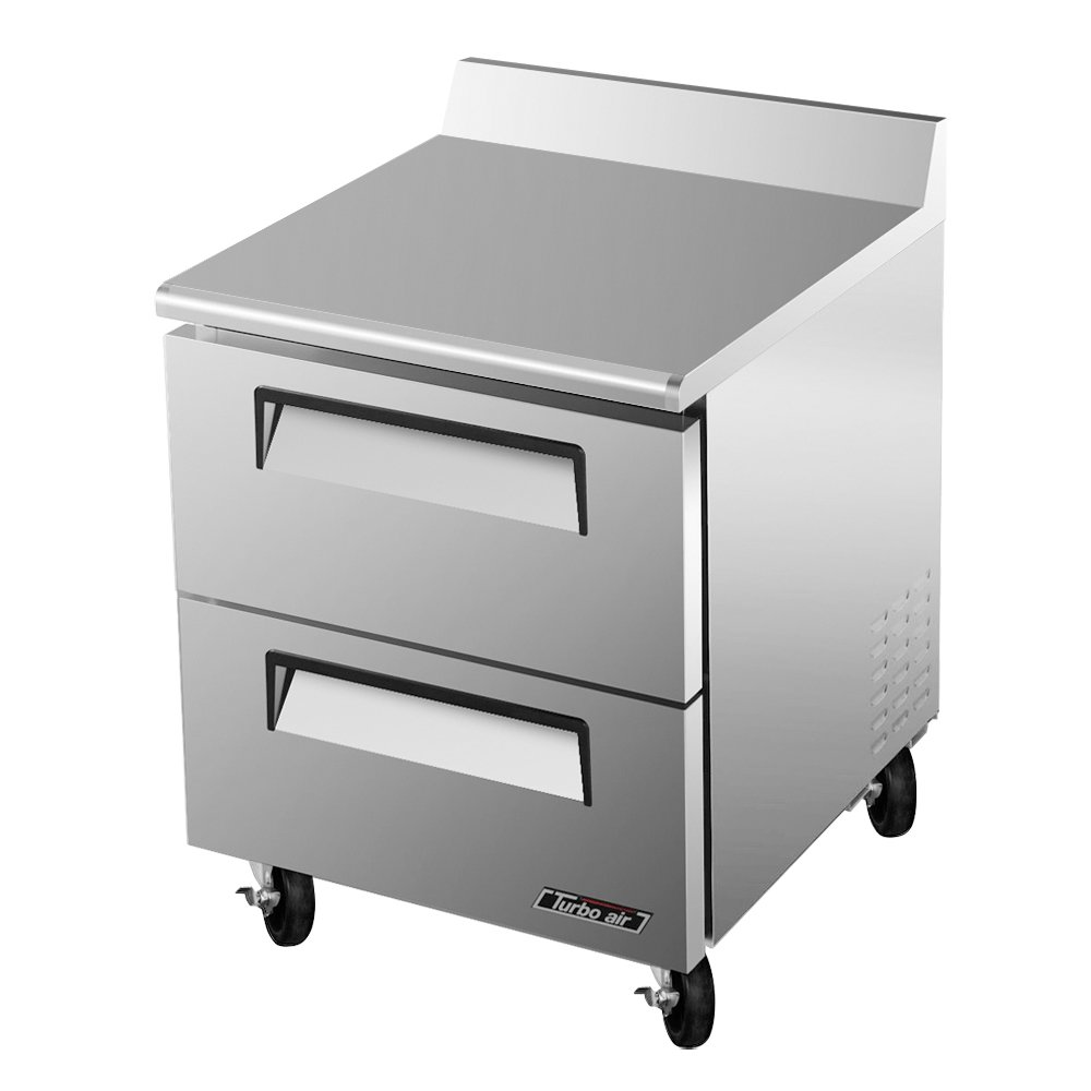 Turbo Air TWF-28SD-D2 1-Section Worktop Freezer w/ 2-Drawers, 7-cu ft, Rear Mount