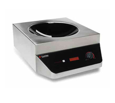 Cook-Tek MWG3500 Portable Single Hob Induction Wok Range w/ Control Knob, 3500-Watt