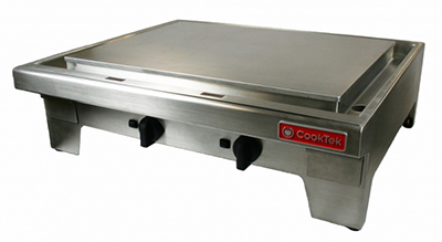"Cook-Tek MPLD362CR-400 36"" Countertop Induction Plancha - Chrome/Stainless 400v"