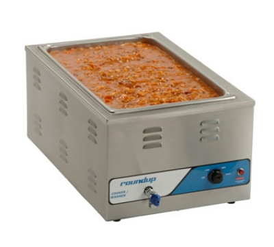 Roundup CW100 Adjustable Countertop Cooker Warmer w/ Drain System