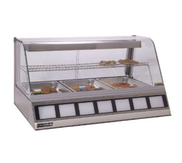 Roundup DCH-320 Heated Display Cabinet, Holds 3 Full Size Pans 2-1/2 in Deep