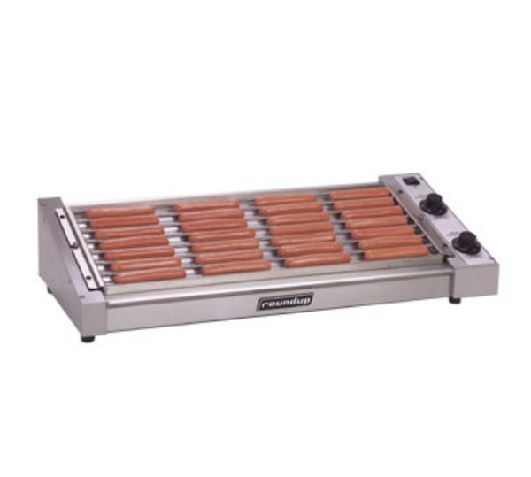 Roundup HDC-35A 35 Hot Dog Roller Grill - Slanted Top, 120v
