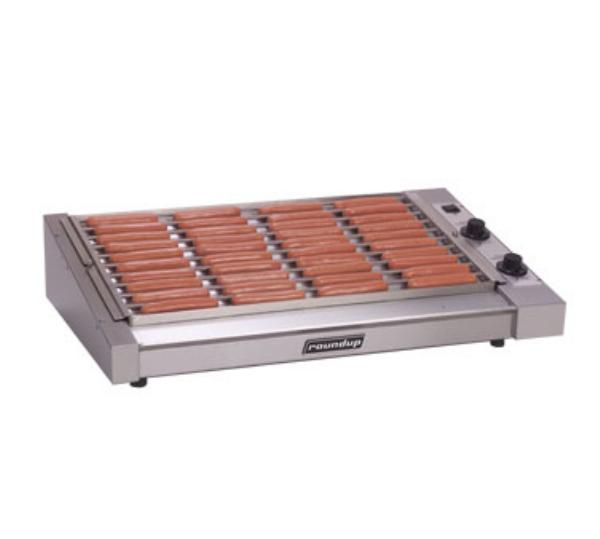 Roundup HDC-50A 50 Hot Dog Roller Grill - Slanted Top, 120v