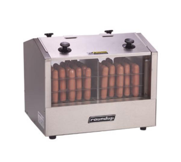 Roundup HDH-3DR Hot Dog Steamer w/ 2-Compartments & 66-Hot Dog Capacity, 7-qt Water