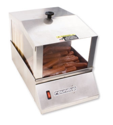 Roundup HDS-20 Stainless Hot Dog Steamer, 32-Hot Dog and 16-Bun Capacity, 120 V