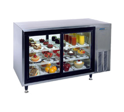 Silver king SKDC48PTC1 48-in Pass-Thru Countertop Refrigerated Display Case w/ 2-Shelves, Stainless
