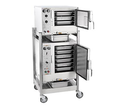 Accutemp S3/S62081D060 2-Convection Steamer w/ Stand & 9-Pan Capacity, 6kw, 208/1 V