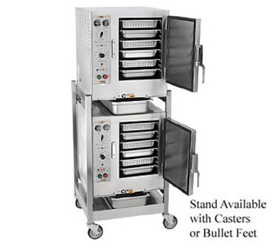 Accutemp S64403D120DBL 2-Convection Steamer w/ Stand & 12-Pan Capacity, 14kw, 440