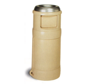 Continental Commercial 1435 BE 24-Gal Ash Top Trash Can w/ Two Door Design, Beige