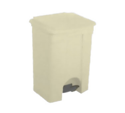 Continental Commercial 18BE 18-Gallon Step-On Receptacle, Beige