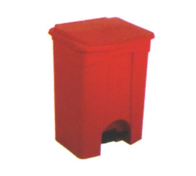 Continental Commercial 18RD 18-Gallon Step-On Receptacle, Red