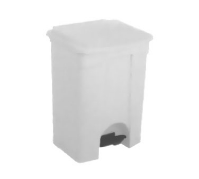 Continental Commercial 18WH 18-Gallon Step-On Receptacle, White