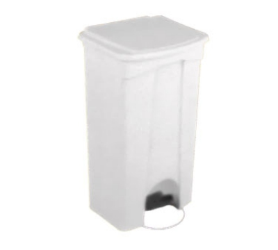 Continental Commercial 23WH 23-Gallon Step-On Receptacle, White