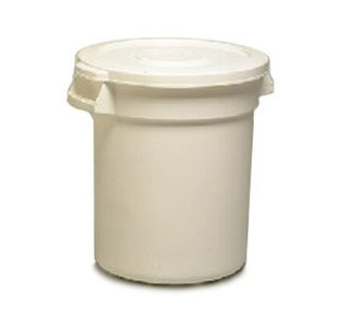 Continental Commercial 3200WH General Purpose Trash Can w/ 32-Gallon Capacity, White