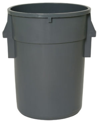 Continental Commercial 4410 GY 44-Gal Backsaver w/ Ribbed Vents, SuperKan, Without Lid, Grey