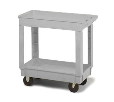 Continental Commercial 5800GY Utility Cart w/ 2-Shelves, 400-lb Capacity, Open Base, Gray