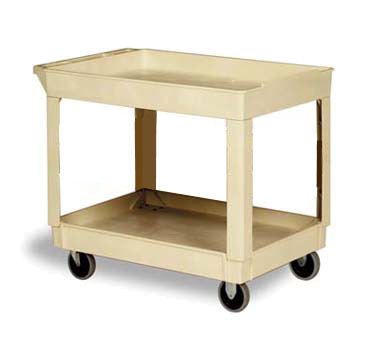 Continental Commercial 5805BE Utility Cart w/ (2) 24 x 36-in Shelves, 400-lb Capacity, Beige