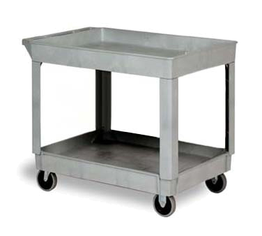 Continental Commercial 5805GY Utility Cart w/ (2) 24 x 36-in Shelves, 400-l