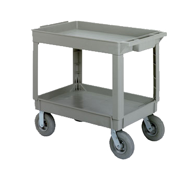 Continental Commercial 5805GY-PN Large Utility Cart w/ 2-Shelves, 400-lbs, Pneumatic Casters, Gray